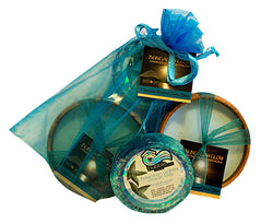 Hawaiian Waters Ocean Bliss Loofah Lather / Soy Poi Candle Gift Set