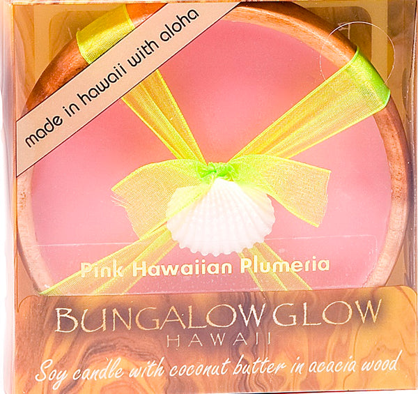 Pink Hawaiian Plumeria Coconut Butter Massage Oil Candle