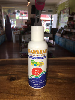 Hawaiian Tanning Gel SPF 15 8oz