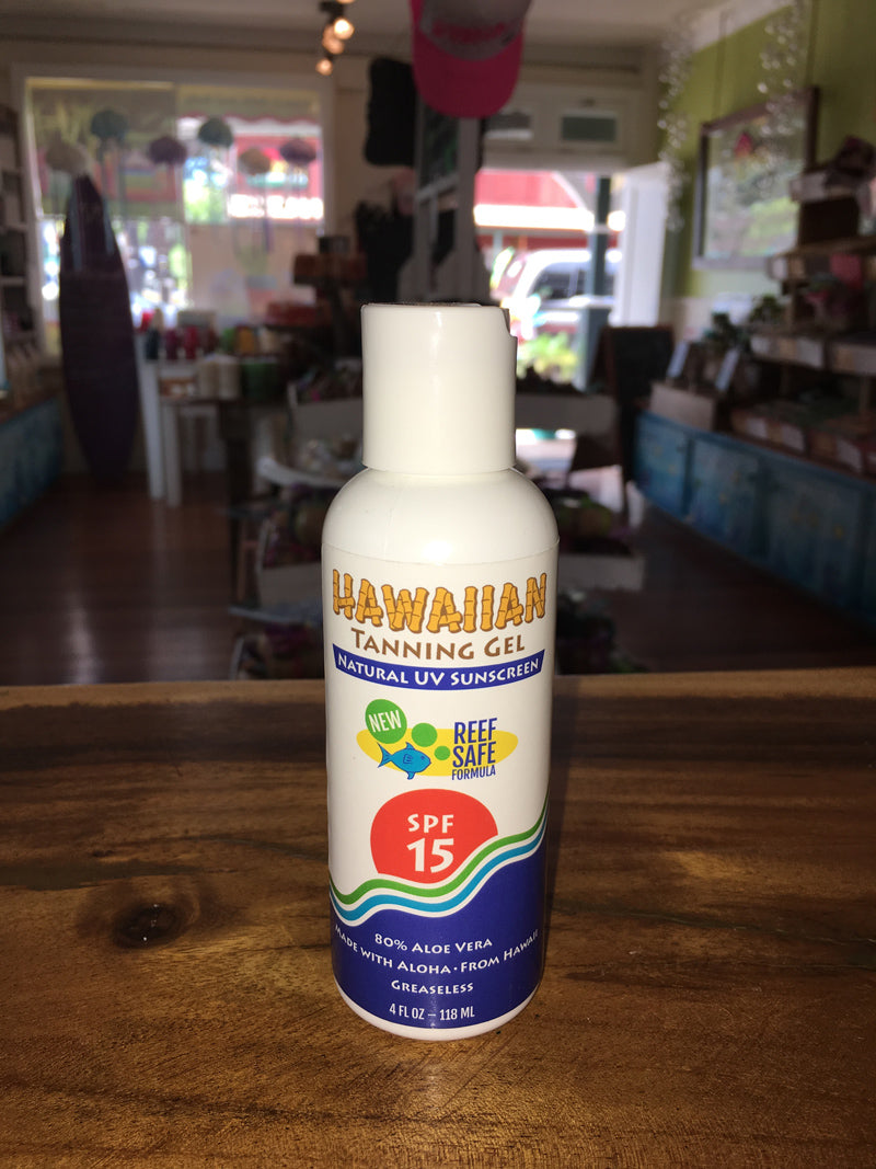 Hawaiian Tanning Gel SPF 15 4oz