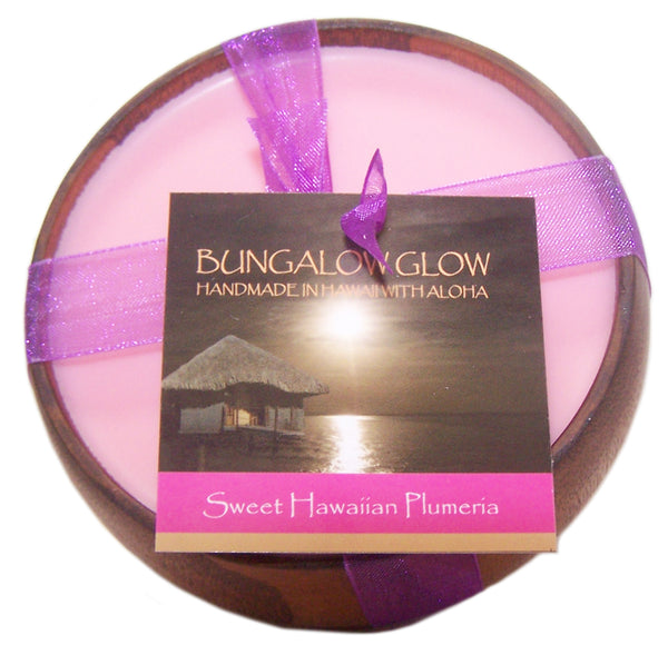 Sweet Hawaiian Plumeria Soy Poi Bowl Candle
