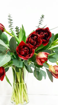 Valentine's Day Flowers, Edmonton flowers, order flowers, flower delivery - tulips, love, red flowers