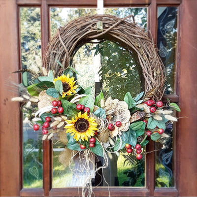 Natural Harvest Wreath