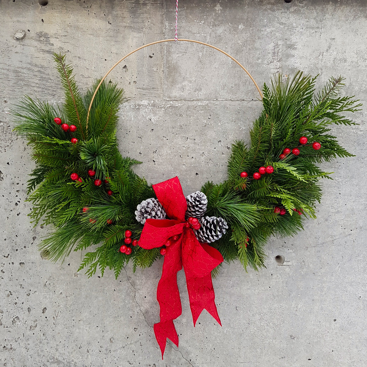 Modern Red Berry Wreath