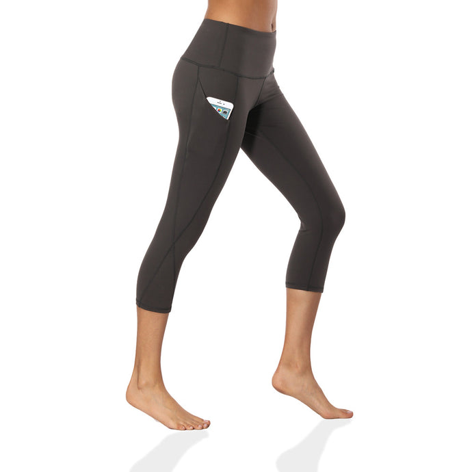 Fitness Capri Yoga Pants With Pocket