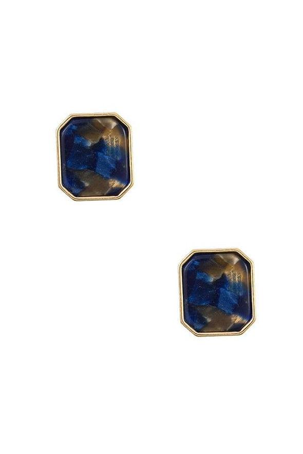Acetate framed post earring