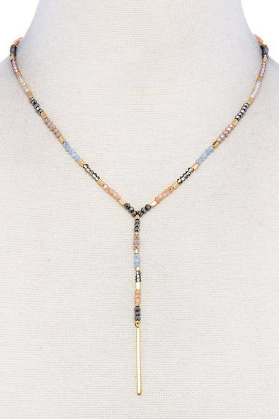 Multi Beaded Fashion Necklace