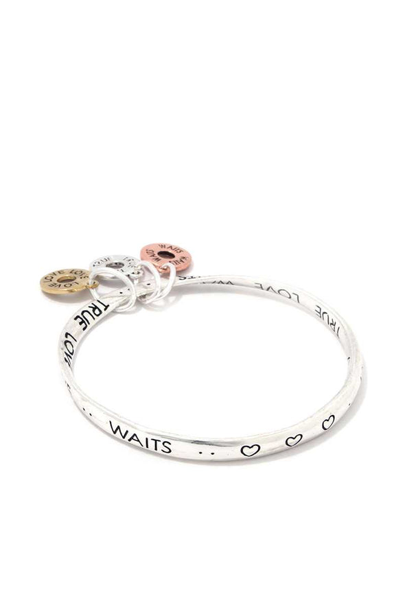 True Love Waits Quote Bangle