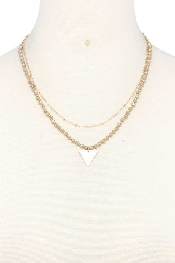 Metal Triangle Charm Layered Necklace