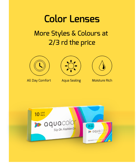 Aquacolour coloured lenses