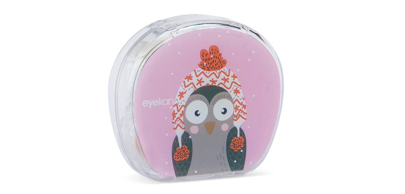 Aqualens Owl K1816 Contact Lens Designer Case(1 Picker, 1 Solutions Bottle, 1 Lens Kit & Outer Box)
