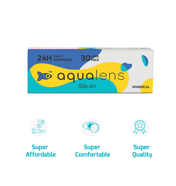 24H daily disposable contact lenses 30 lens pack