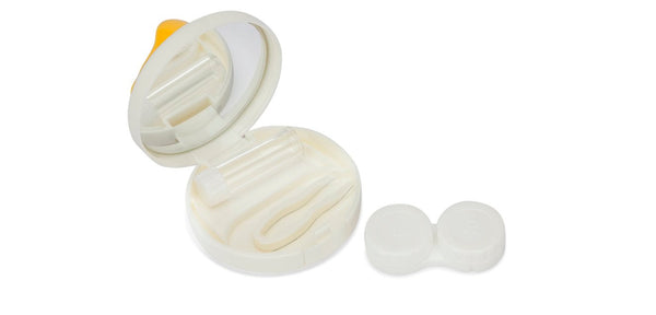 Aqualens  A-8110 Little Quaker White yellow Contact Lens_KIT ( 1 Picker, 1 Solutions Bottle, Lens_KIT & Outer Box )