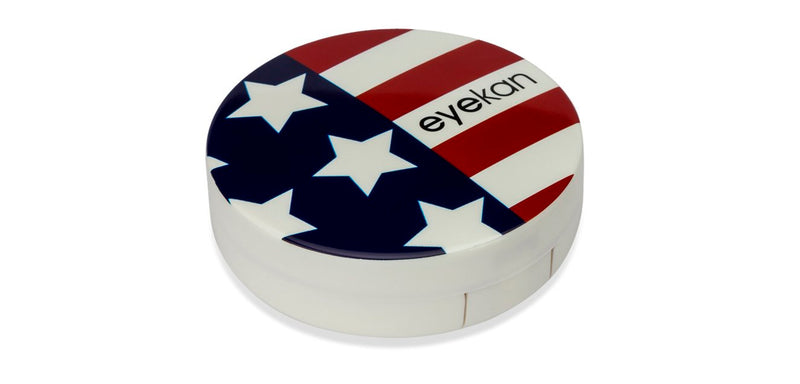 Aqualens  A-8112 Captain America USA Flag Contact Lens_KIT ( 1 Picker, 1 Solutions Bottle, Lens_KIT & Outer Box )