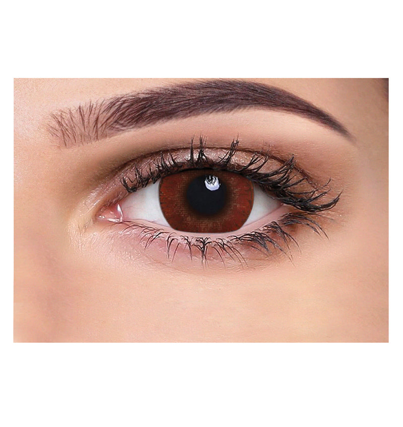 Aquacolour naughty brown coloured contact lens