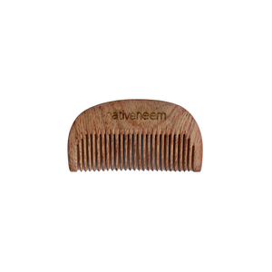 Wooden Neem Comb Narrow Tooth - greentradingaustralia
