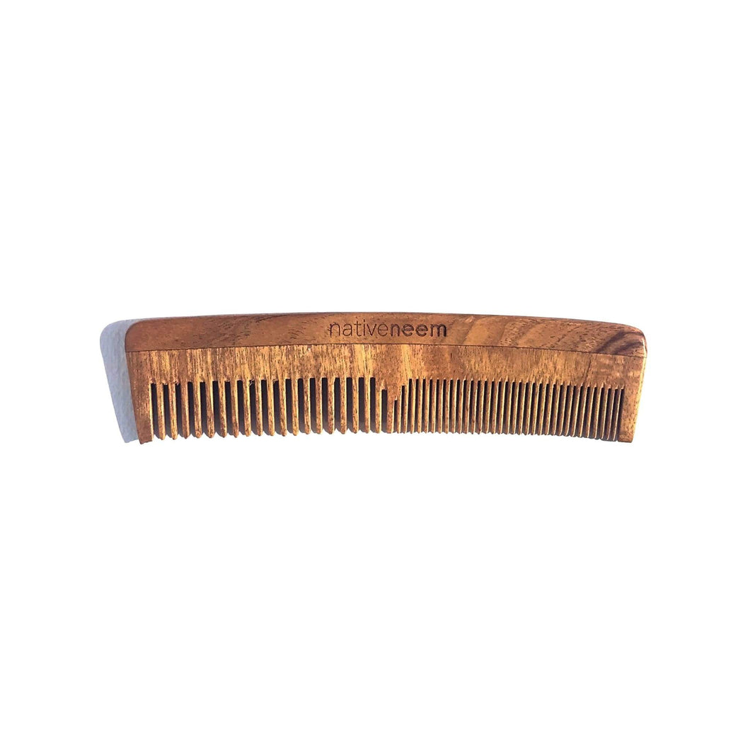 Wooden Neem Comb Mixed Tooth - greentradingaustralia