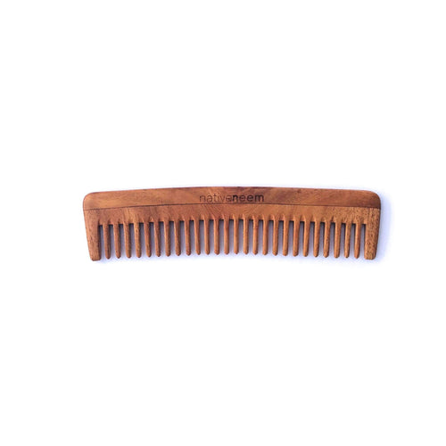 Wooden Neem Comb Wide Tooth - greentradingaustralia