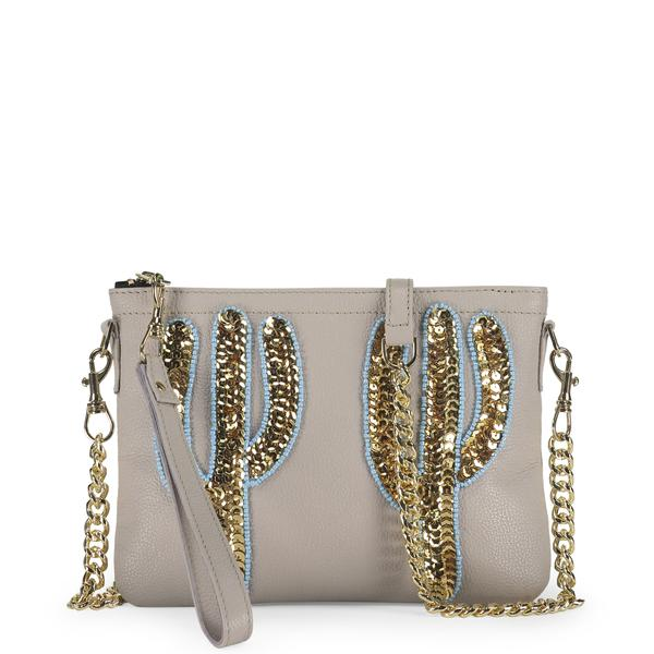 Gold Cactus Embellished Bag