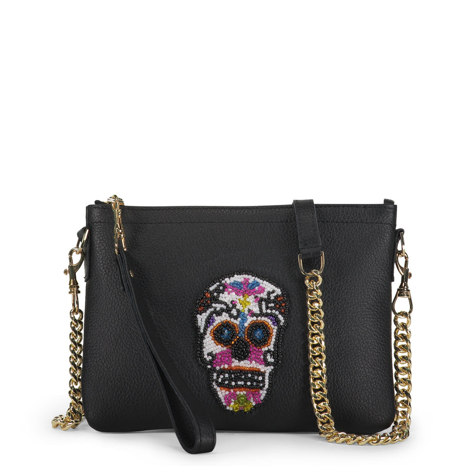 Sugar Skull Embellished Bag