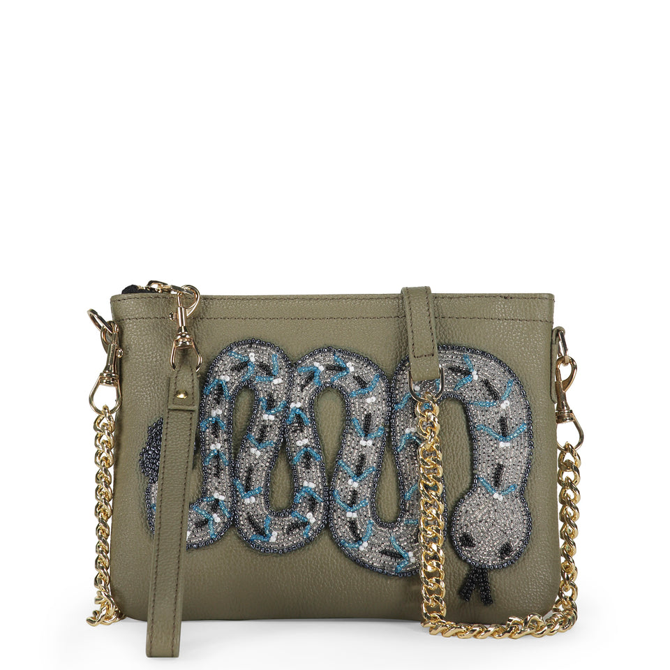 Rattlesnake Embellished bag