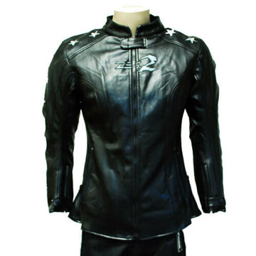 NEW MOTORCYCLE SPORT BIKE ARMOR RACING JACKET ZS2 LADY STAR BLACK