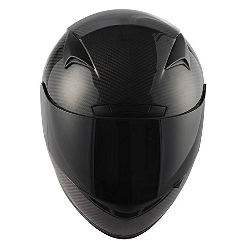 Genuine Carbon Fiber Motorcycle Street Bike Full Face Helmet Black, 3.2lb only: HG335C-Fiber