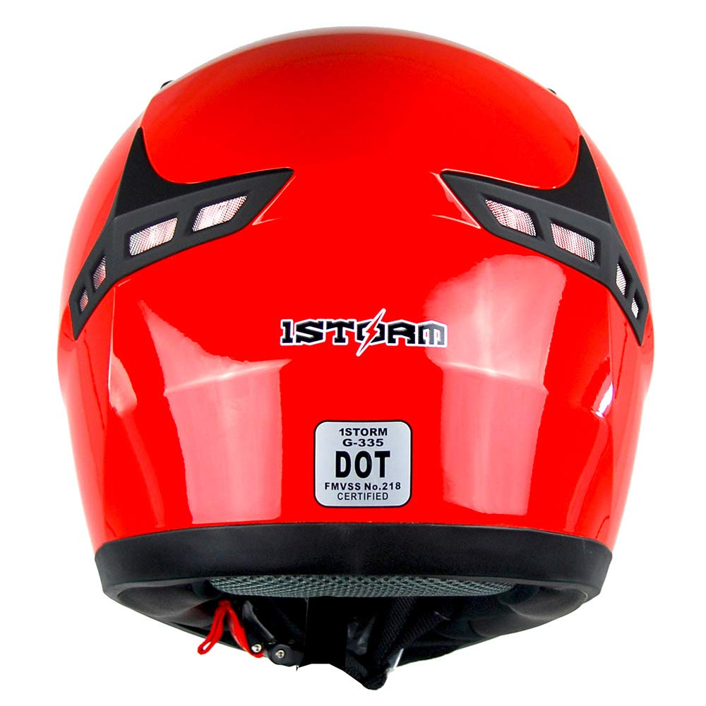 1STORM MOTORCYCLE BIKE FULL FACE HELMET BOOSTER: HG335ABS