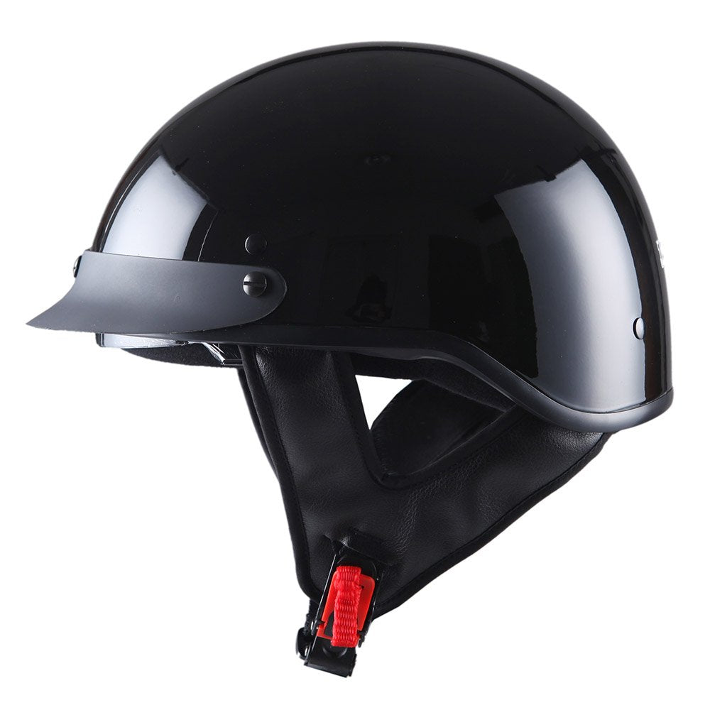 1storm Motorcycle Half Face Helmet Mopeds Scooter Pilot With Retratable Inner Smoked Visor Hky205v