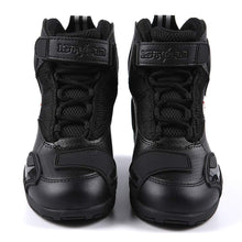 1Storm Men's Motorcycle Boots Rider Racing Black Hiking Trekking Outdoor Boots: MT015