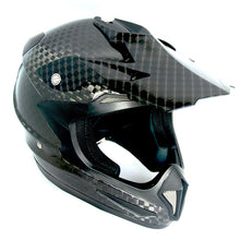Genuine Real Carbon Fiber 1Storm Motocross Helmet Off Road ATV Dirt Bike MX BMX Black: HGXP15