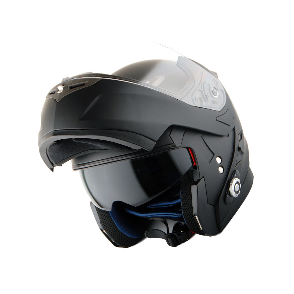 Martian Motorcycle Bluetooth Helmet Modular Full Face Flip up Dual Visor Bluetooth Headset: HM-BH1 + Premium Leather Gloves