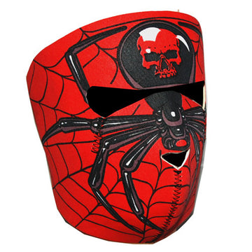Motorcycle Bike Snowboard Ski Snow Snowmobile Face Mask Balacla Spider Red Skull: FM039