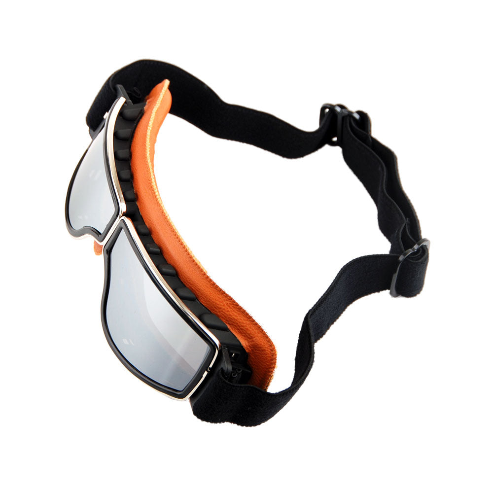 Motorcycle Goggles Scooter Mopeds Half Helmet Vintage Vespa Pilot Aviator Style, GK_631