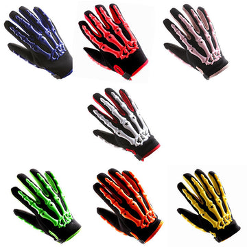 Adult Motocross Gloves Motorcycle BMX MX ATV Dirt Bike Bicycle Skeleton Cycling Gloves: GLV_CE04