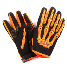 Youth Motocross Gloves Motorcycle BMX MX ATV Dirt Bike Bicycle Skeleton Cycling Kids Gloves: GLV_CE04(Youth)
