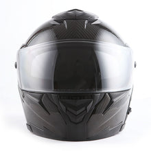 MARS Genuine Carbon Fiber Motorcycle Modular Flip up Full Face Helmet Dual Visor: HB-B1