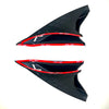 1Storm Motorcycle Modular Flip up Dual Visor Full Face Helmet Decoration Black Horn Wing