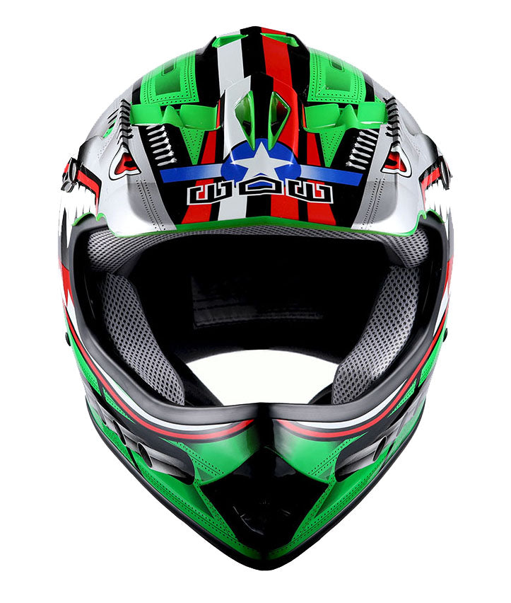 Youth DOT Motocross Helmet Motocycle ATV MX BMX Bike Kids Shark Green