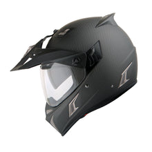 Martian Genuine Real Carbon Fiber Motorcycle Modular Flip up Full Face Helmet + Motorcycle Bluetooth Headset: HB-BXN-L9 Matt Carbon Black