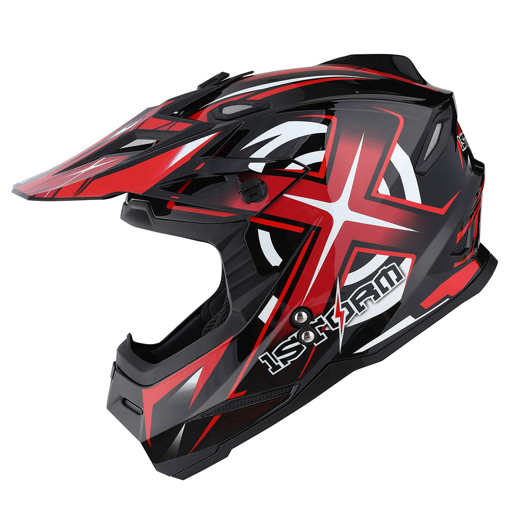 1Storm Motorcycle Street Bike Dual Visor/Sun Visor Full Face Helmet Mechanic: HF801