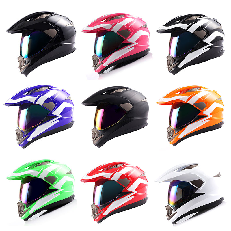 Dual Sport Helmet Motorcycle Full Face Motocross Off Road Bike: HGXP-14A