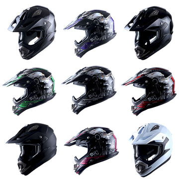 1Storm Adult Motocross Helmet Off Road MX BMX ATV Dirt Bike Mechanic: HGXP14B