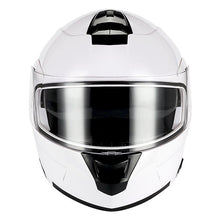 1Storm Motorcycle Street Bike Modular/Flip up Dual Visor Sun Shield Full Face Helmet: HJA119