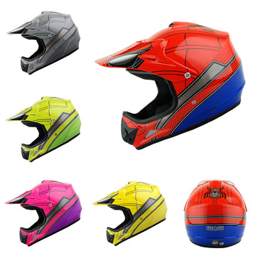 WOW Youth Kids Motocross BMX MX ATV Dirt Bike Helmet Spider Spider Web: HJOY