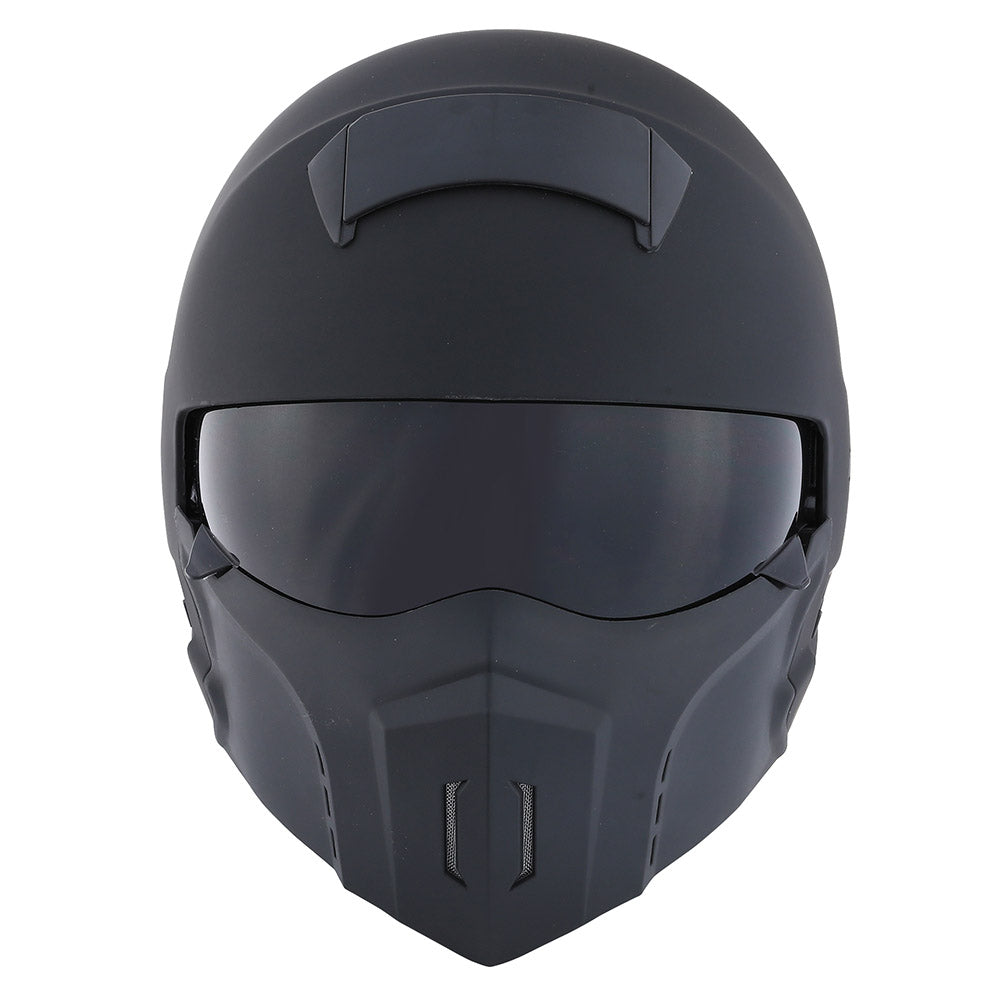 1Storm Motorcycle Full Face Helmet Open Face Knight Classical (Detachable Face Mask): HKY861