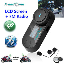 Freedconn New Motocycle Helmet Waterproof and Wireless Bluetooth, LCD Screen, TCOM-SC 800M Hands Free Headset