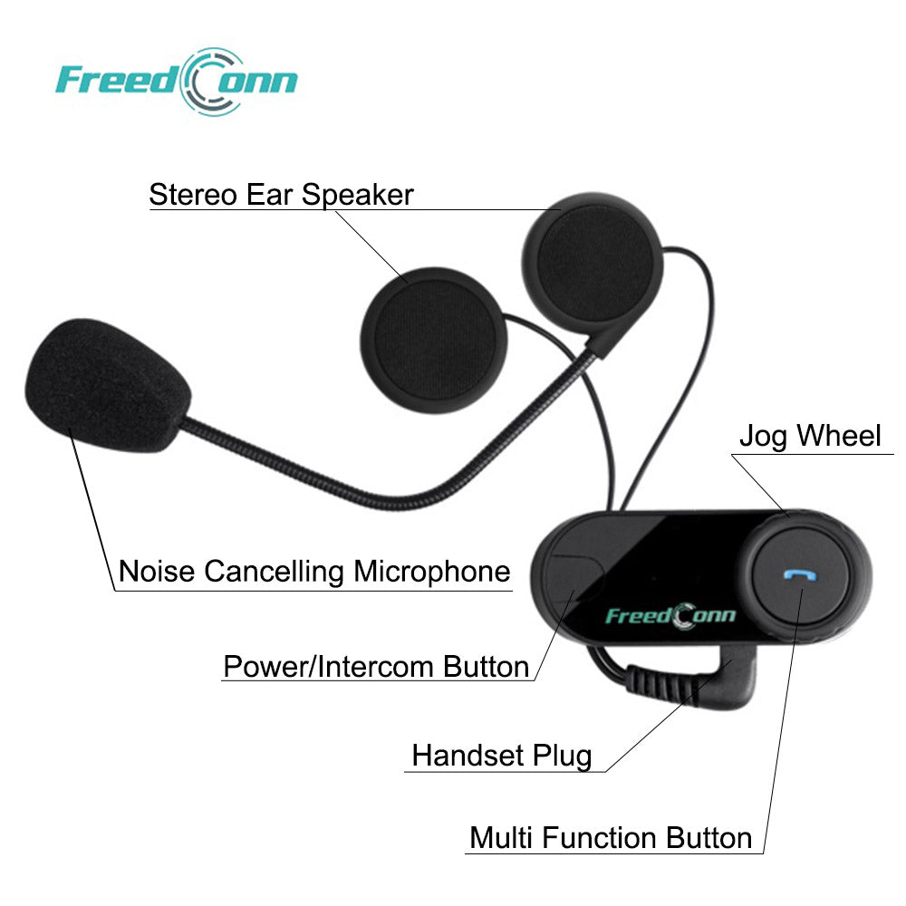 Freedconn New Motocycle Helmet Waterproof and Wireless Bluetooth TCOM-VB 800M Hands Free Headset