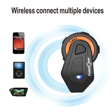 StellarTalk New Motocycle Helmet Waterproof and Wireless Bluetooth TMAX-E Group 1000M Intercom Headset with Stereo Music