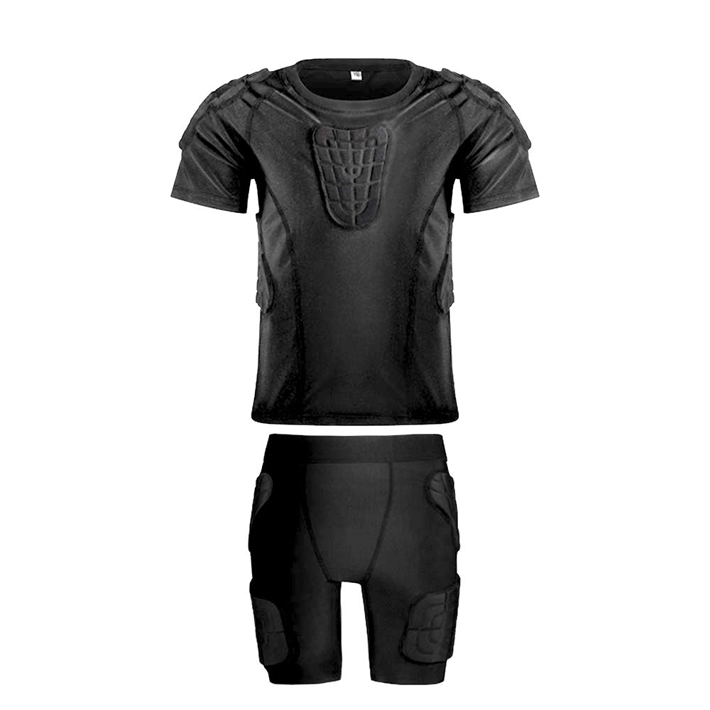 Youth Kids Lycra+EVA Anti-Collision Protective Short Shirt/Pant for Football Baseball Basketball Bike Rugby Snowboard Ski Volleyball